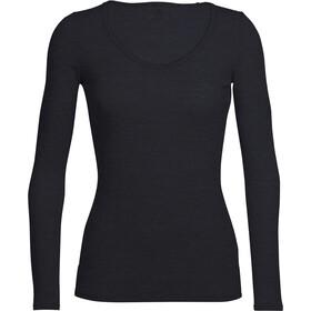 Icebreaker Siren LS Sweetheart Shirt Women black
